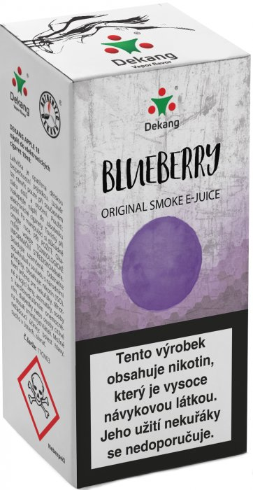 E-liquid Dekang Blueberry 10ml 16mg (borůvka)