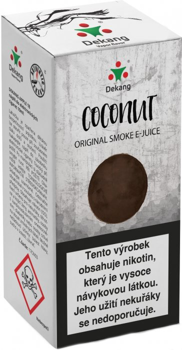 E-liquid Dekang Coconut 10ml 16mg (kokos)