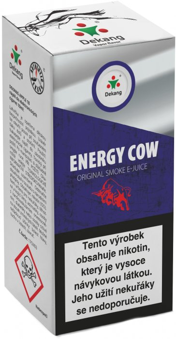 E-liquid Dekang Energy Cow 10ml 18mg (energetický nápoj)