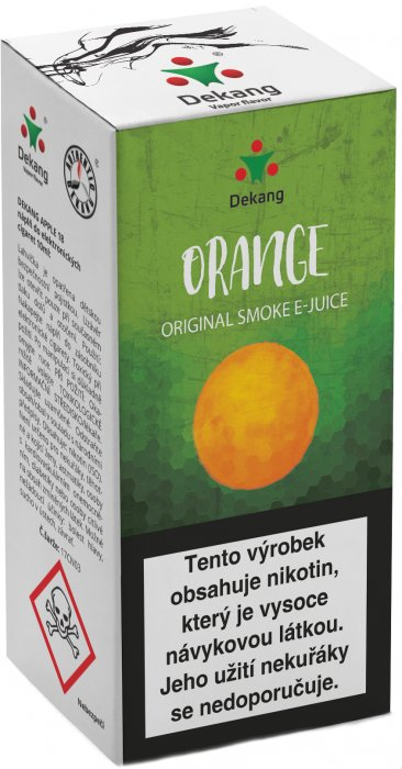 E-liquid Dekang Orange 10ml 6mg (pomeranč)