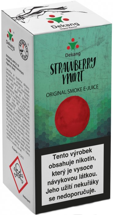E-liquid Dekang Strawberry mint 10ml 6mg (jahoda s mátou)