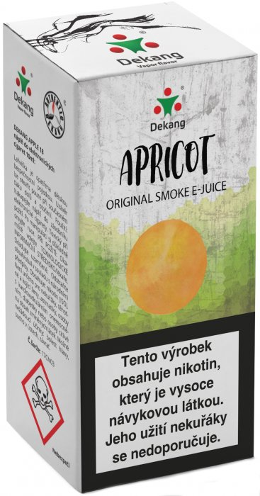 E-liquid Dekang Apricot 10ml 16mg (meruňka)