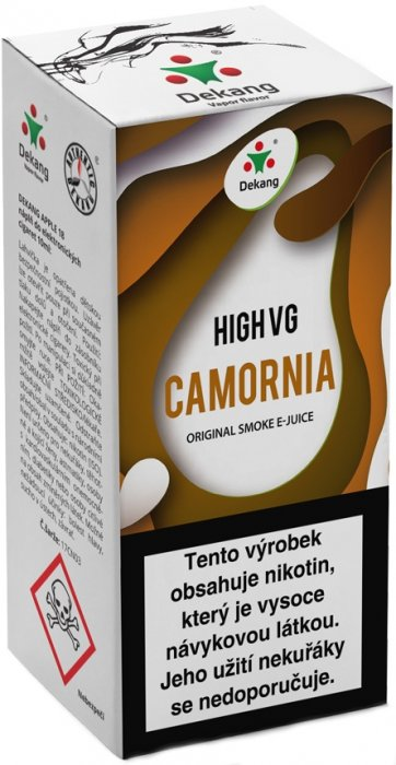 Dekang High VG Camornia 10ml 1,5mg (Tabák s ořechy)