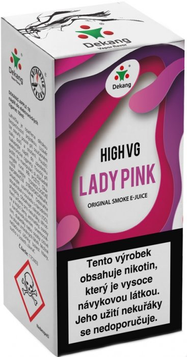Dekang High VG Lady Pink 10ml 3mg (Borůvka s broskví)