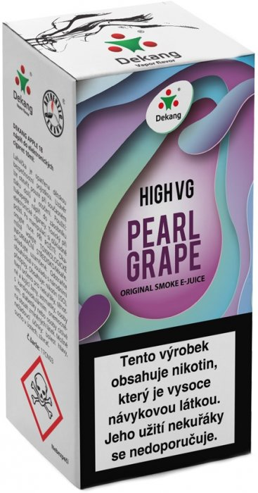 Dekang High VG Pearl Grape 10ml 3mg (Hrozny s mátou)