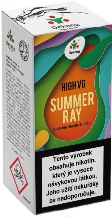 Dekang High VG Summer Ray 10ml 3mg (Ovocná směs)