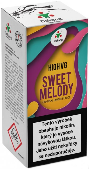 Dekang High VG Sweet Melody 10ml 3mg (Broskev s citrónem)