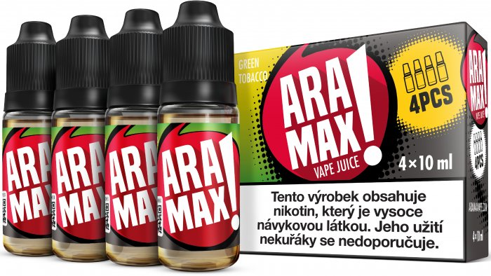 ARAMAX 4pack Green Tobacco 4x10ml 12mg