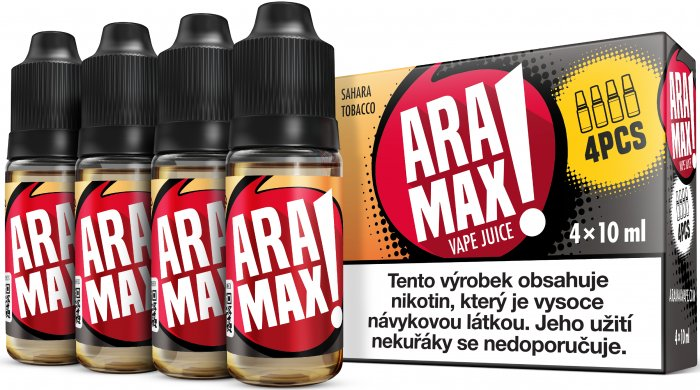 ARAMAX 4pack Sahara Tobacco 4x10ml 12mg