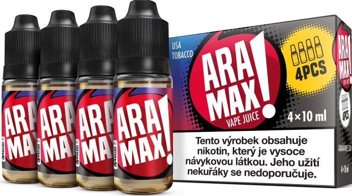 ARAMAX 4pack USA Tobacco 4x10ml 12mg