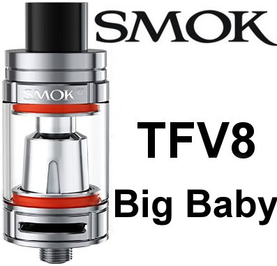 Smoktech TFV8 Big Baby clearomizer Silver - ze sady
