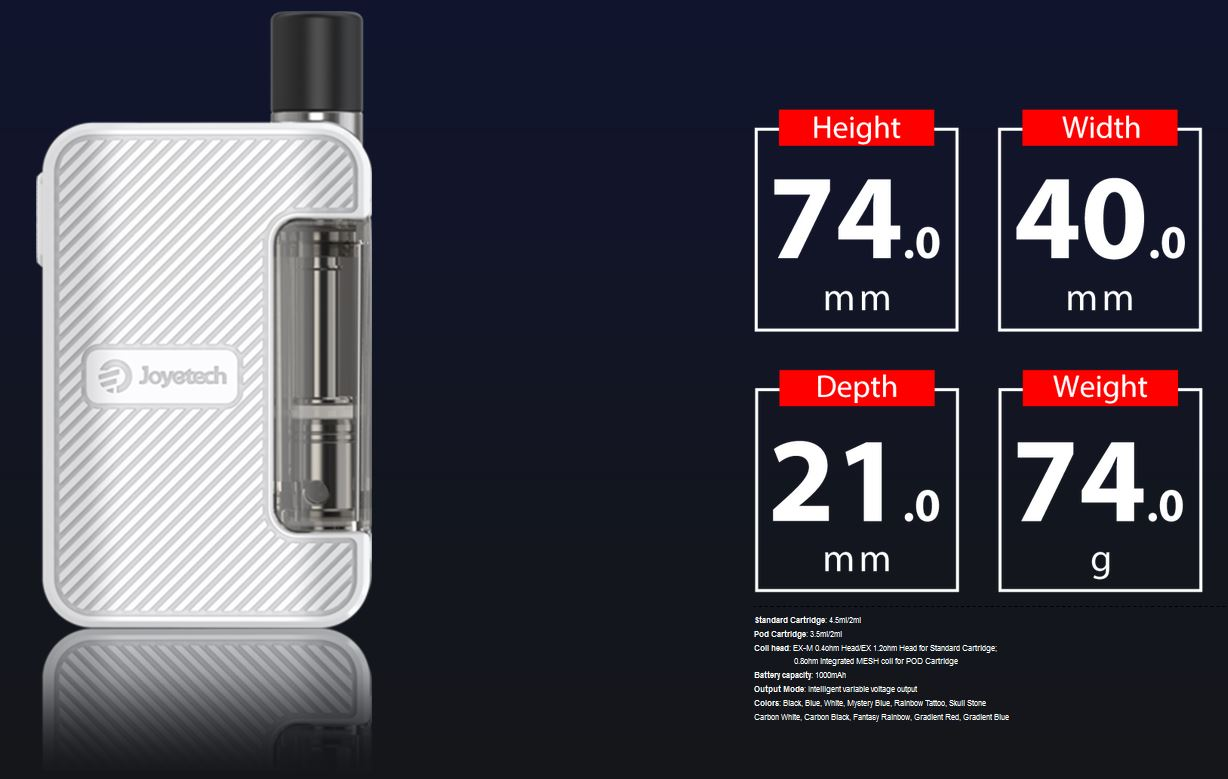 Joyetech Exceed Grip Full Kit 1000 mAh Skul Stone 1 ks