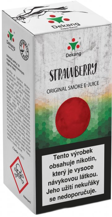 E-liquid Dekang Strawberry 10ml 3mg (jahoda) po expiraci