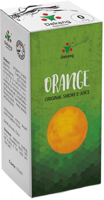 E-liquid Dekang Orange 10ml 0mg (pomeranč) po expiraci