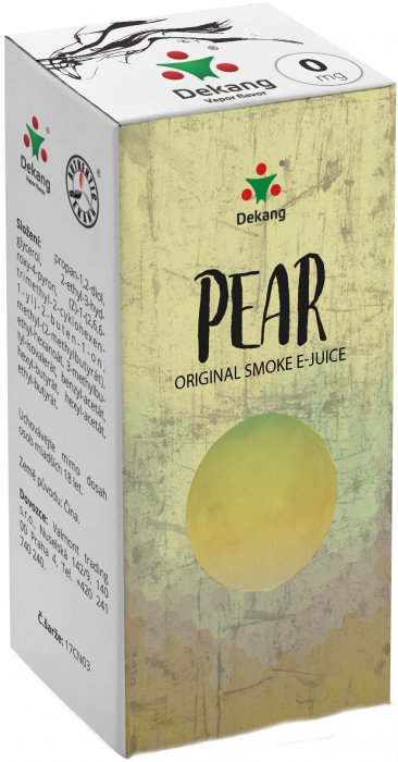 E-liquid Dekang Pear 10ml 0mg (hruška) po expiraci