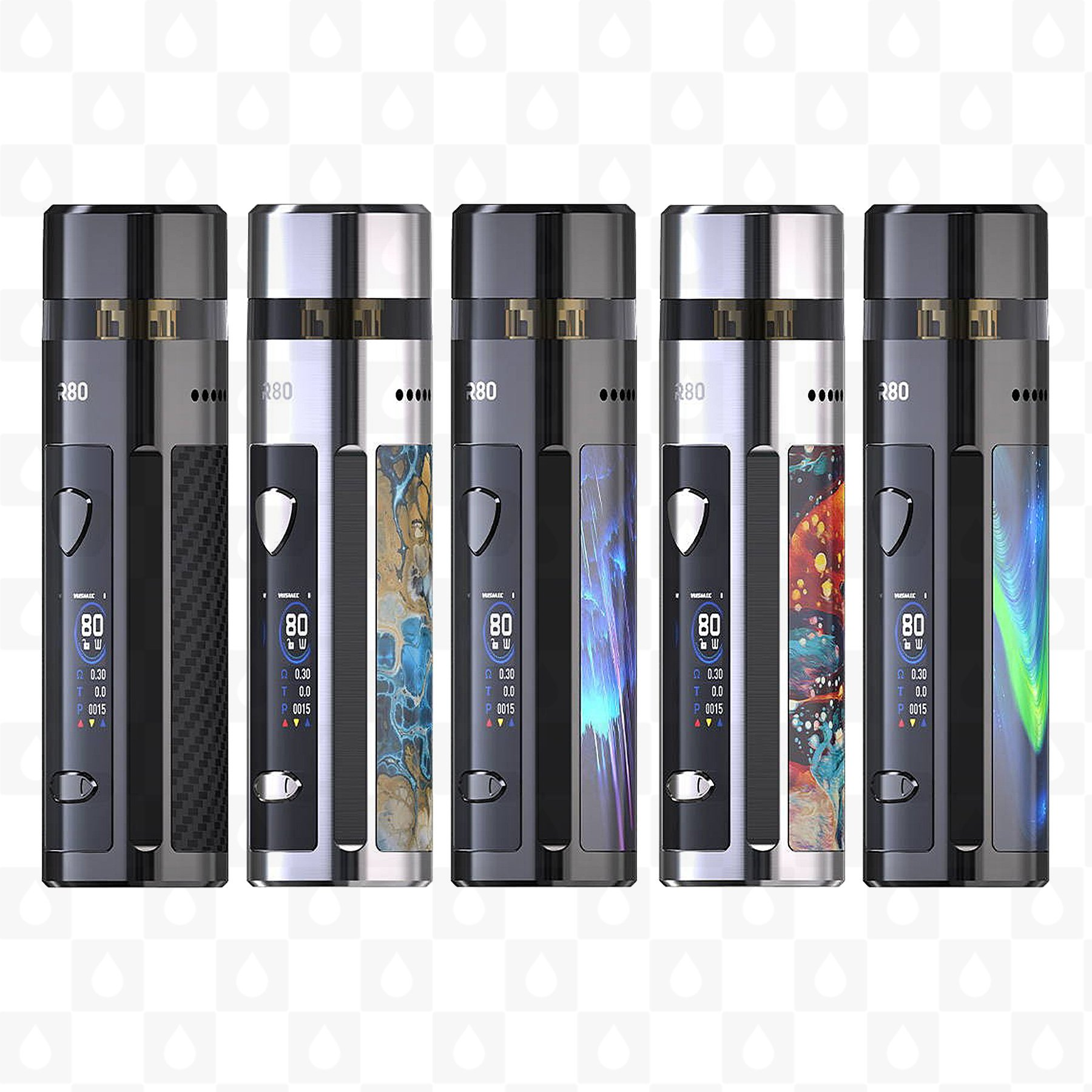 Wismec R80 grip Full Kit Ocean Star 0mAh 1ks