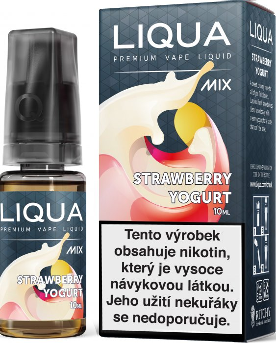 LIQUA MIX Strawberry Yogurt 10ml 18mg po expiraci