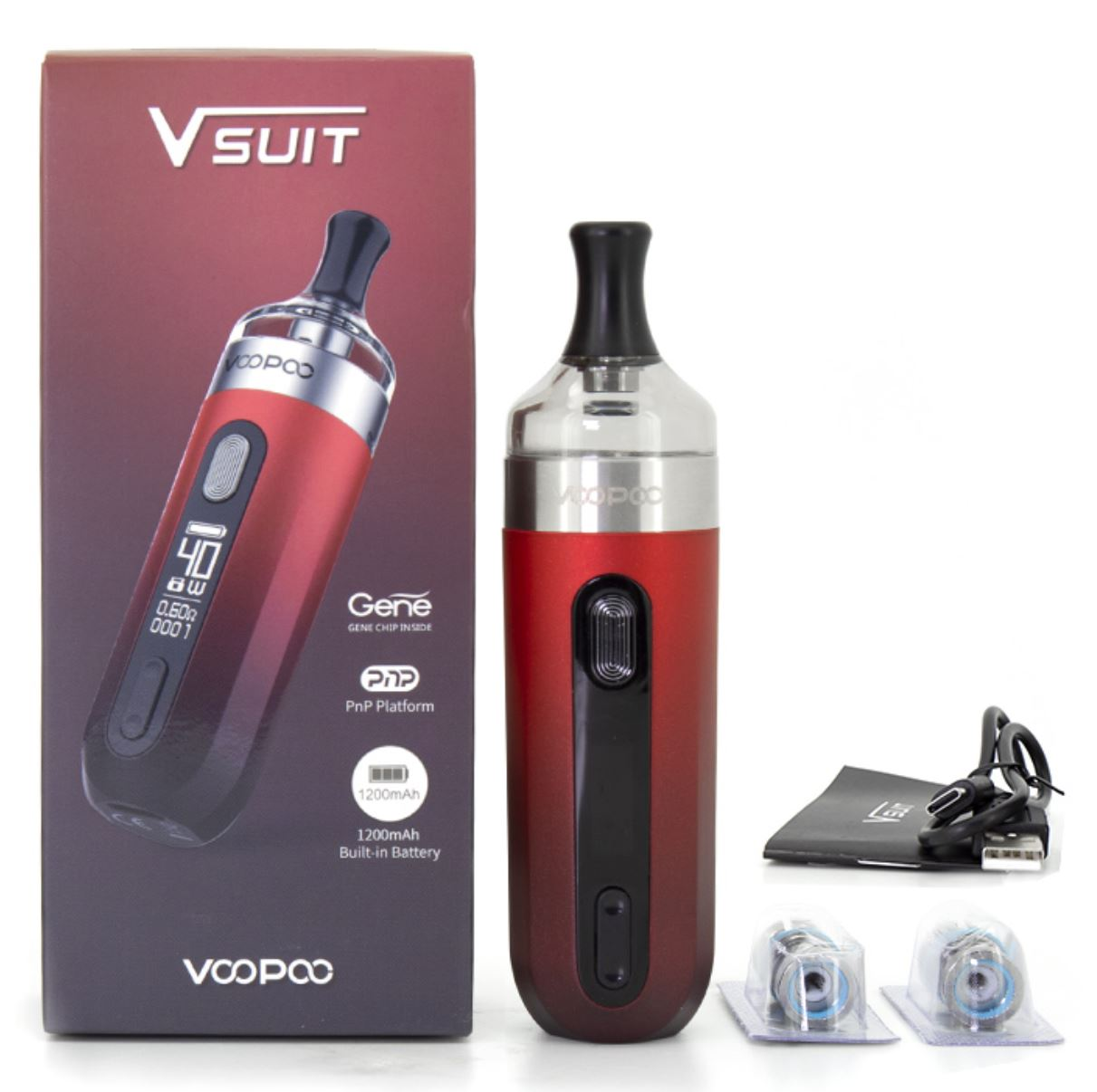 VOOPOO V.SUIT 40W elektronická cigareta 1200mAh Red 1ks