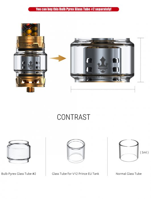 Smoktech TFV12 Prince 8ml Red - ze sady