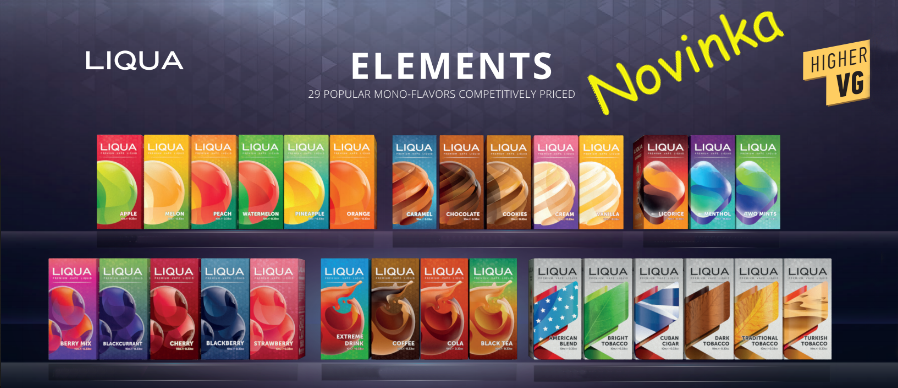 Liquid Liqua Elements 10x10 - 10 ml sada 10 ks mix dle výběru