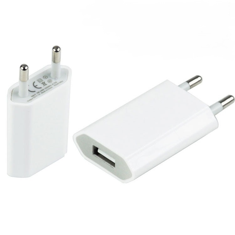 USB adaptér 230V - 5V/500mA USB White