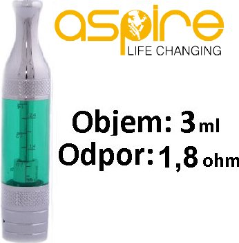 aSpire ET-Victory BVC clearomizer 3ml Zelený