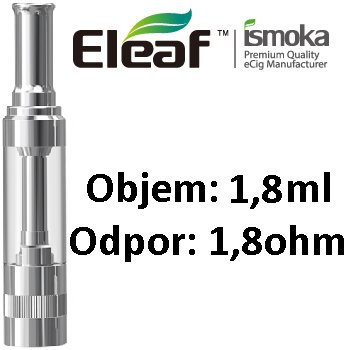 iSmoka-Eleaf GS14 clearomizer 1,8ohm 1,8ml Nerez