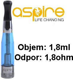 aSpire CE5 BDC Clearomizer 1,8ohm 1,8ml Modrý