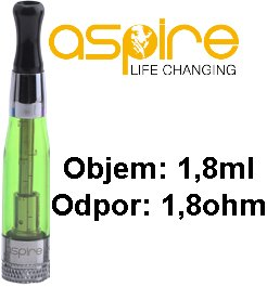 aSpire CE5 BDC Clearomizer 1,8ohm 1,8ml Zelený