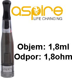 aSpire CE5 BDC Clearomizer 1,8ohm 1,8ml Kouřový