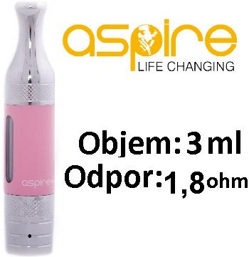 aSpire ET-S Victory BVC clearomizer 3ml Růžový