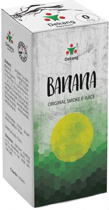E-liquid Dekang Banan 10ml 0mg (banán)