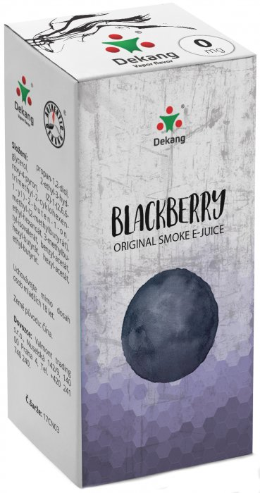 E-liquid Dekang Blackberry 10ml 0mg (ostružina)