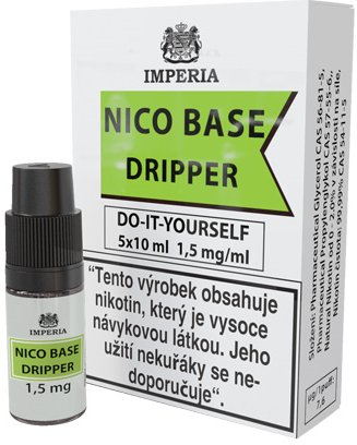 Nikotinová báze IMPERIA Dripper 5x10ml PG30-VG70 1,5mg