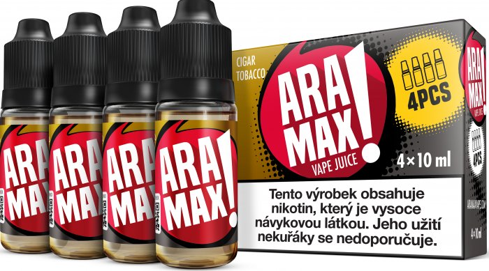 ARAMAX 4pack Cigar Tobacco 4x10ml 3mg