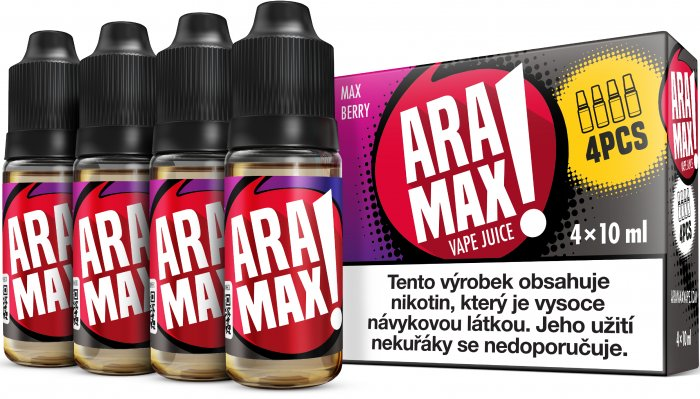 ARAMAX 4pack Max Berry 4x10ml 3mg