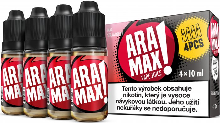 ARAMAX 4pack Max Strawberry 4x10ml 3mg