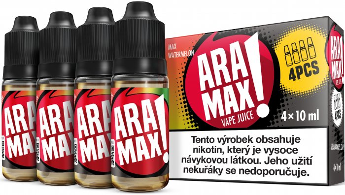 ARAMAX 4pack Max Watermelon 4x10ml 3mg