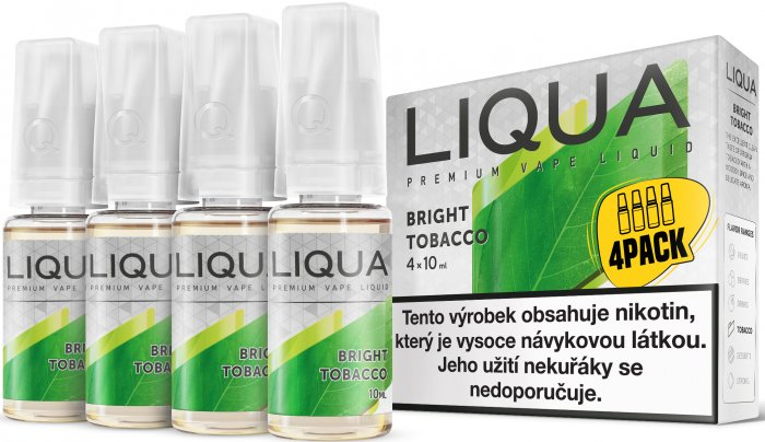 LIQUA Elements 4Pack Bright tobacco 4x10ml-3mg (Čistá tabáková příchuť)