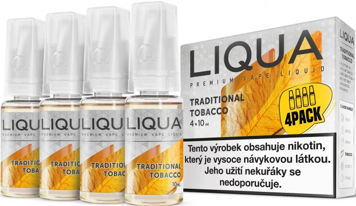 LIQUA Elements 4Pack Traditional tobacco 4x10ml-3mg (Tradiční tabák)