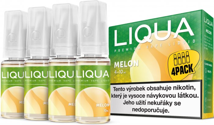 LIQUA Elements 4Pack Melon 4x10ml-3mg (Žlutý meloun)