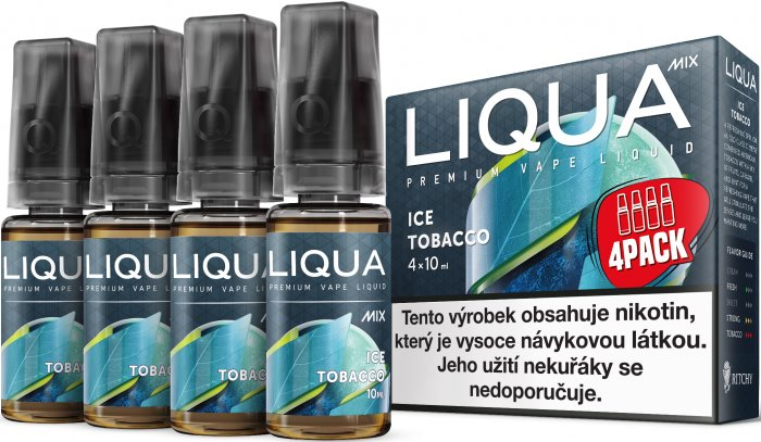 LIQUA MIX 4Pack Ice Tobacco 4x10ml-3mg