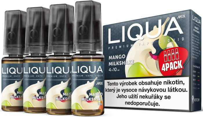 LIQUA MIX 4Pack Mango Milkshake 4x10ml-3mg
