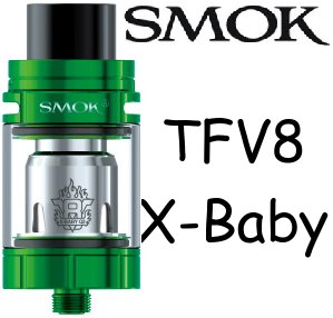 Smoktech TFV8 X-Baby clearomizer Green