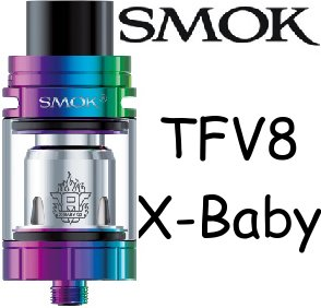 Smoktech TFV8 X-Baby clearomizer Rainbow