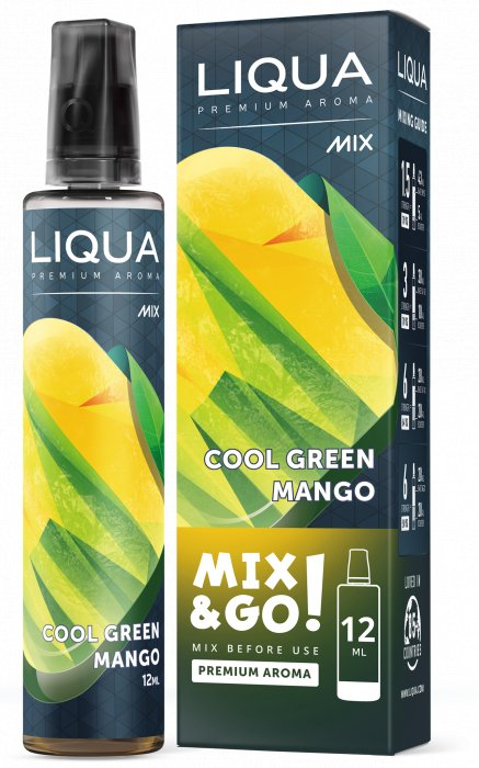 Příchuť Liqua Mix&Go 12ml Cool Green Mango