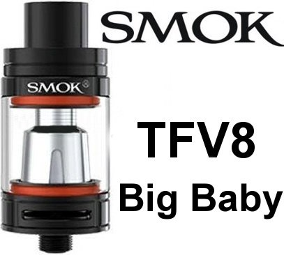 Smoktech TFV8 Big Baby clearomizer Black - ze sady