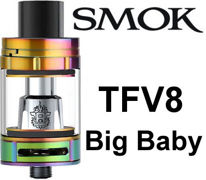 Smoktech TFV8 Big Baby clearomizer Rainbow - ze sady