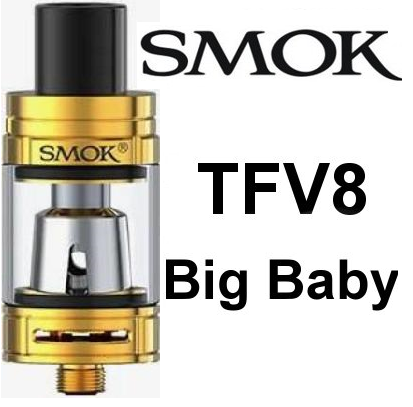 Smoktech TFV8 Big Baby clearomizer Gold - ze sady