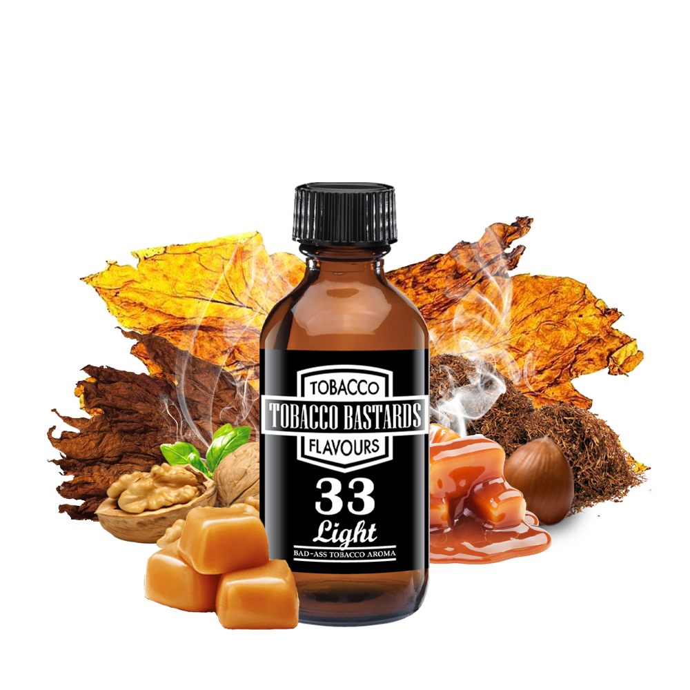 Flavormonks Tobacco Bastards No. 33 Light Tobacco 10ml